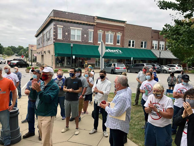 Stop the Mid-States Corridor rally held
