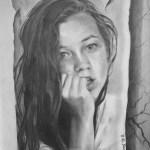 Tina, 1990, kresba tužkou na papíře, 30x20 cm, soukromá sbírka