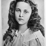 portrét, neznámá dívka, tužka, tuš, kresba, unknown girl