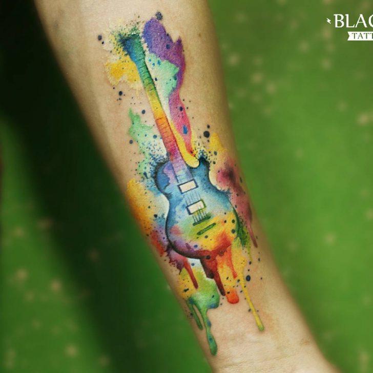 24 Cool Guitar Tattoo Designs Best Tattoo Ideas Gallery