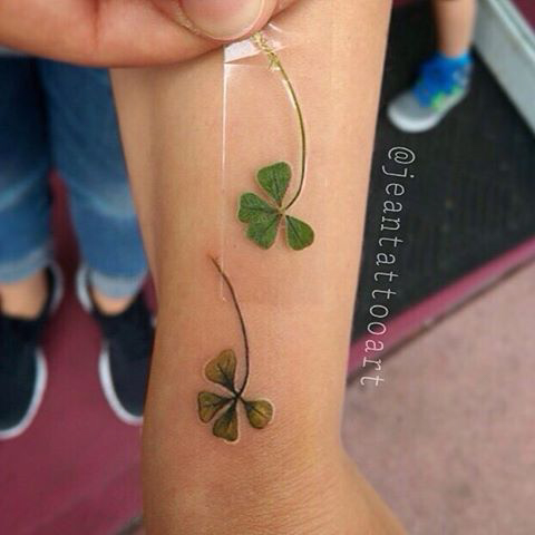 4 Leaf Clover Tattoo Wrist Jidileaf Co
