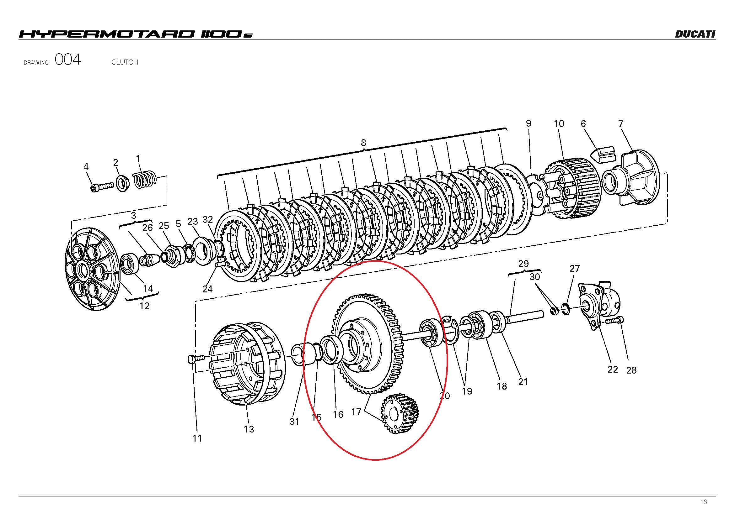 Wtb Dry Clutch Ducati Hypermotard Or Monster Crankshaft