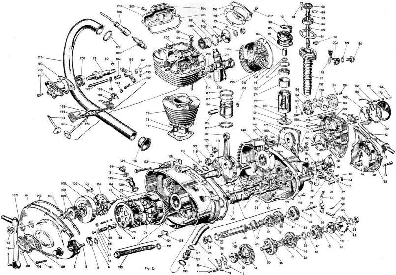 4 stroke motorcycle engine diagram 200cc motorcycle engine diagram honda 125 engine parts list | reviewmotors.co