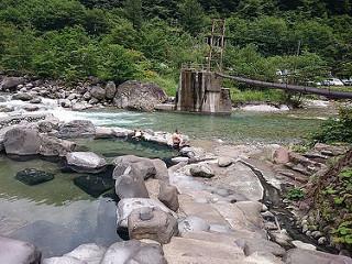 新穂高の湯 深山荘 露天風呂