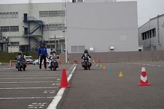 ヤマハ親子バイク教室 直線