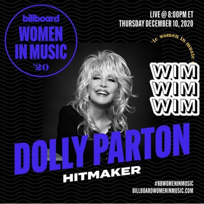 Dolly Parton Billboard's HITMAKER 2020 Women In Music