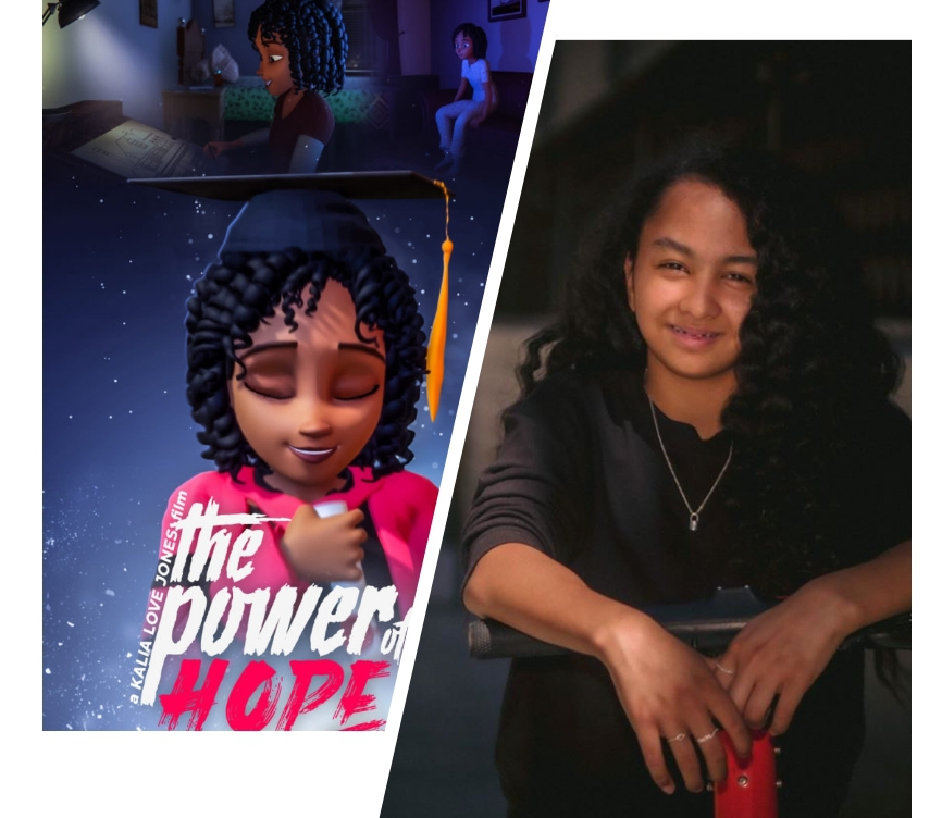 13 year old Kalia Love Jones directs her own animated film