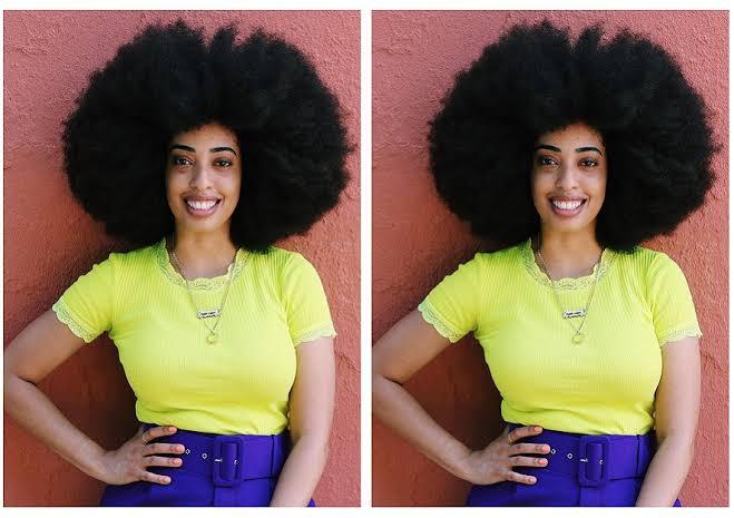 World's largest afro Simone Williams