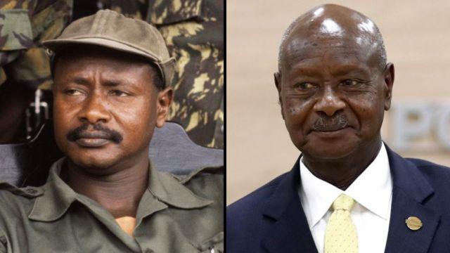 Yoweri Tibuhaburwa Kaguta Museveni then and now