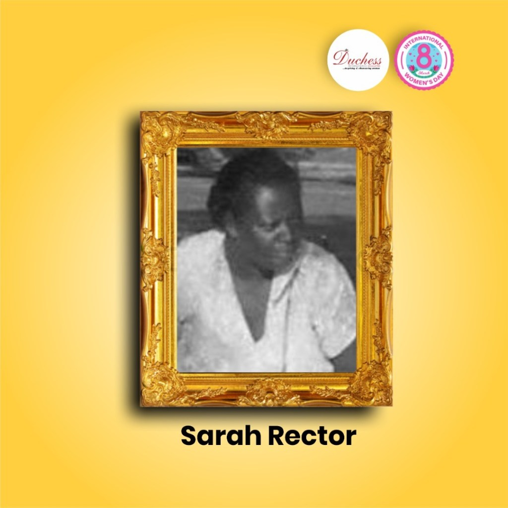"""Sarah Rector Richest Colored Girl in the world"""" in history"""