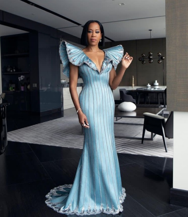 Regina King in Louis Vuitton at the 2021 Oscars