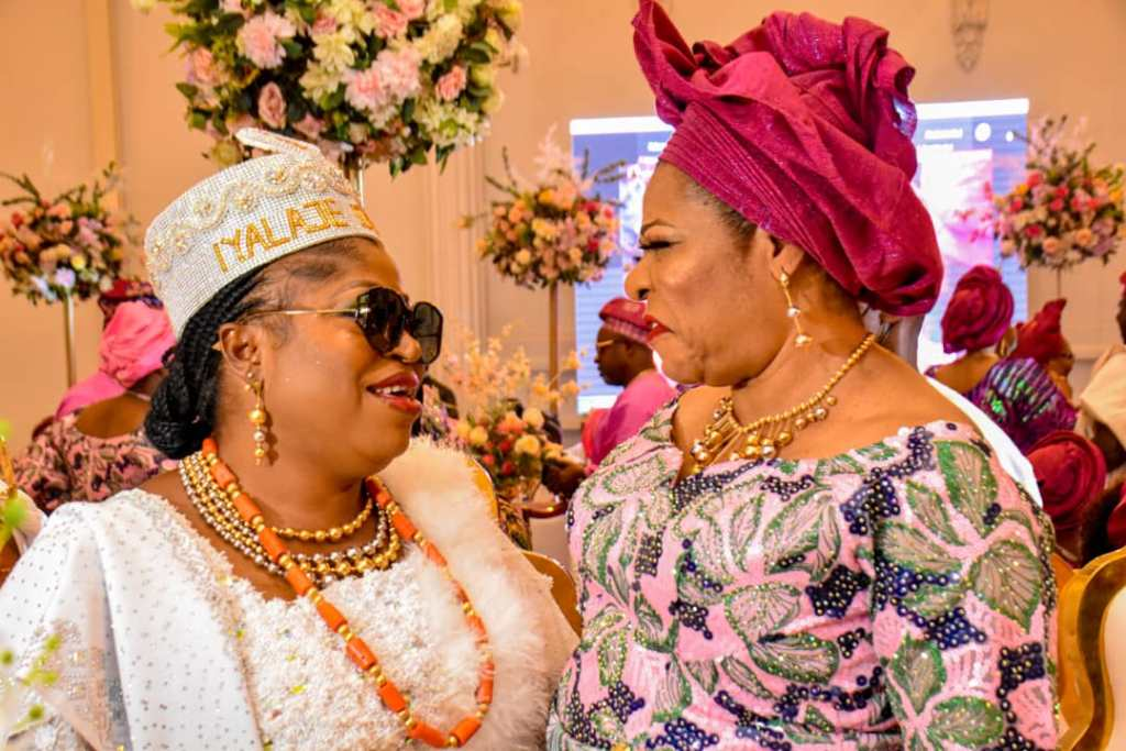 Iyalaje Oodua Princess Kolade Graces Rotimi Ibidapo's Daughter's Wedding In Lagos