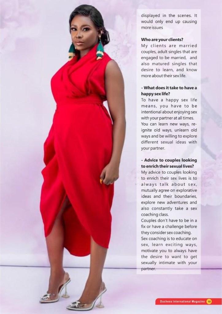 #DuchessOfTheMonth Sex Coach Iretioluwa Oba-Okojie