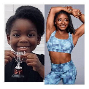 Four Year Old Dedicates Own 'Gymnast of the Week' Trophy To Simone Biles