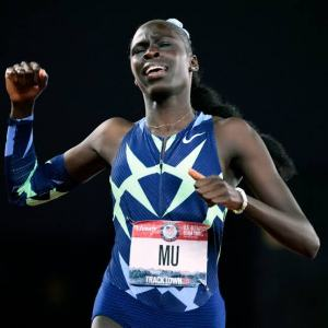 Trenton's two-time Olympic gold medalist Athing Mu set a new American record when she won the 800 meters in a time of 1:55.04 at the Prefontaine Classic at Hayward Field in Eugene, Oregon on Saturday.