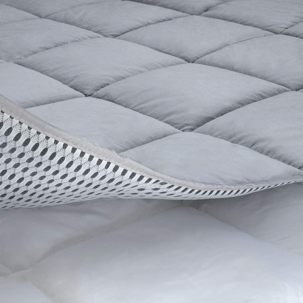 cooling mattress pad cover california king grey