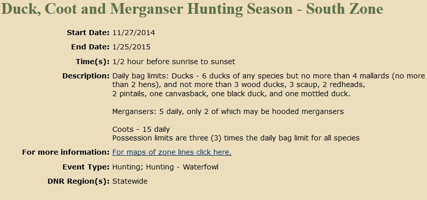 Illinois hunting seasons