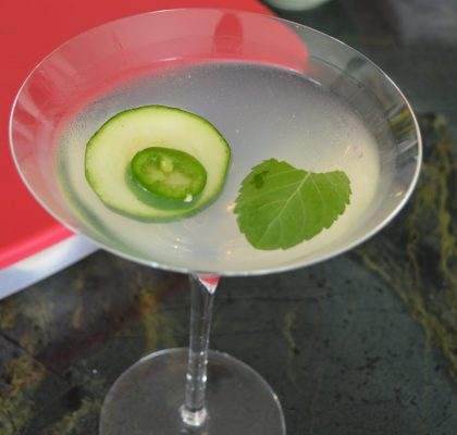 Cucumber Jalapeno Mint Martini