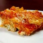 Three Cheese Lasagna with Marinara and Parsley