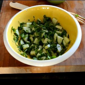 duckinapot.com cucumber cilantro salad