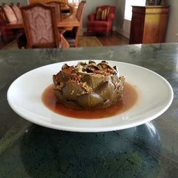 duckinapot.com stuffed artichoke