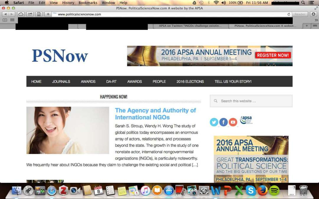 Tweeted and Deleted by APSA: Gender and Race in the Academy