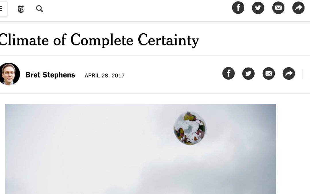 Bret Stephens and Climate Change