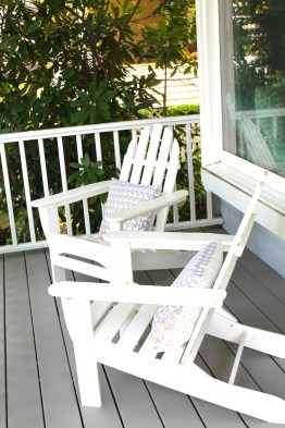 Classic adirondack chairs are updated and durable in their plastic reincarnation.