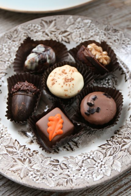 Themed chocolates to indulge the senses.