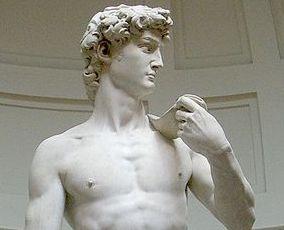 Michelangelo's David (top half)