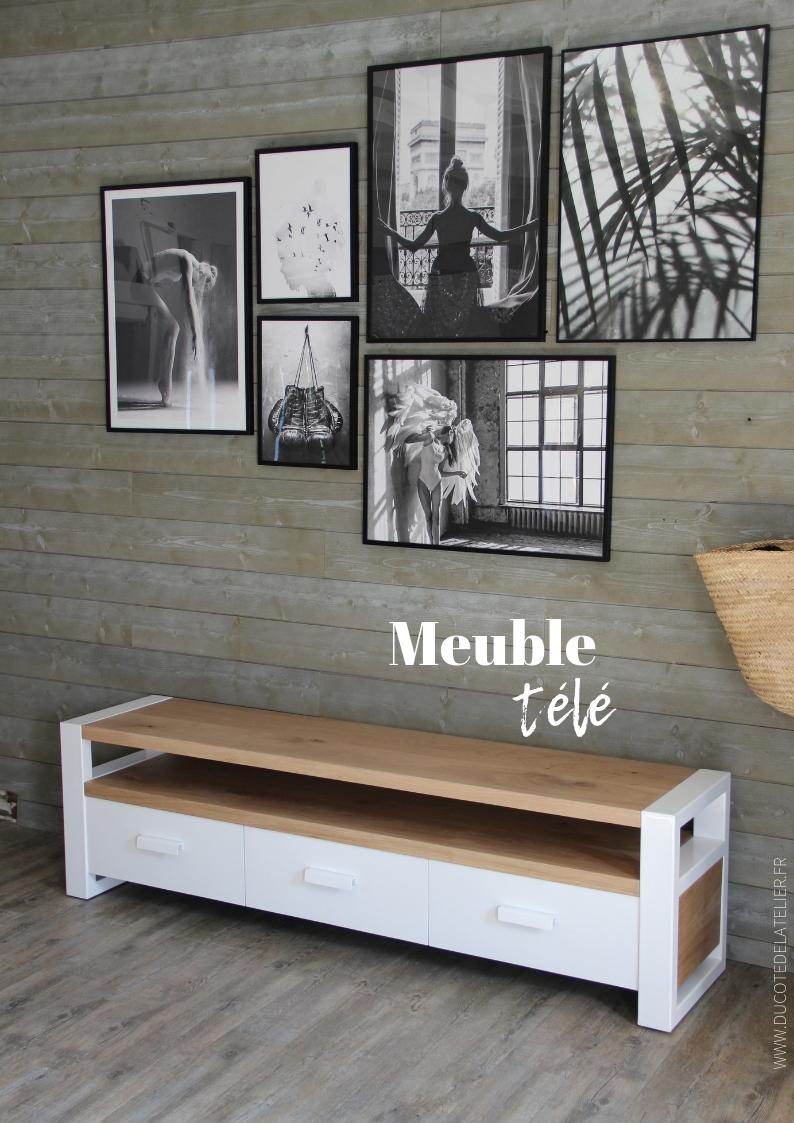 meuble tv avec 3 tiroirs ref 028 du
