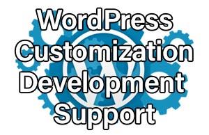 WordPress Customization, Development & Support