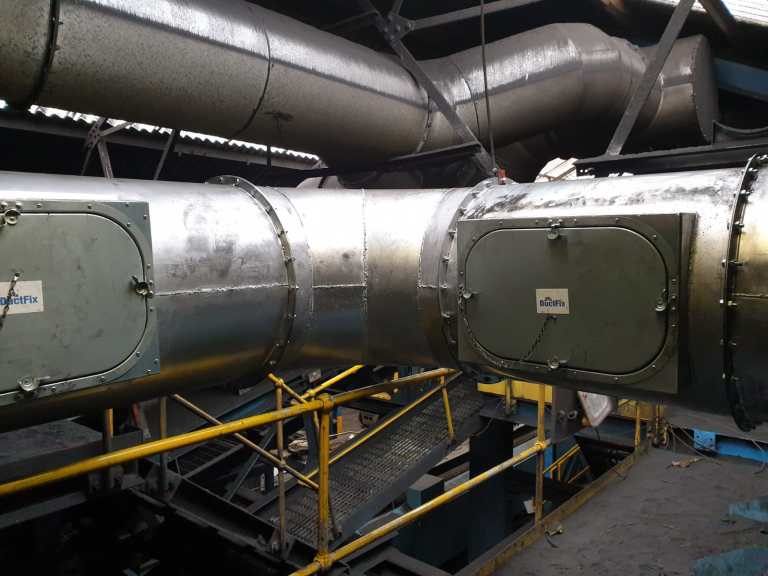 Fully Welded Foundry Ductwork
