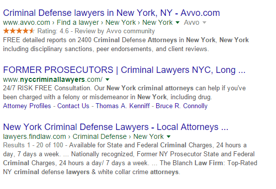 google-criminal-lawyer-nyc-results