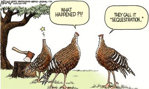 sequestration turkeys off with their heads