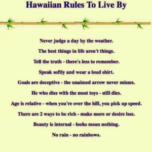 Hawaiian Rules to diss by