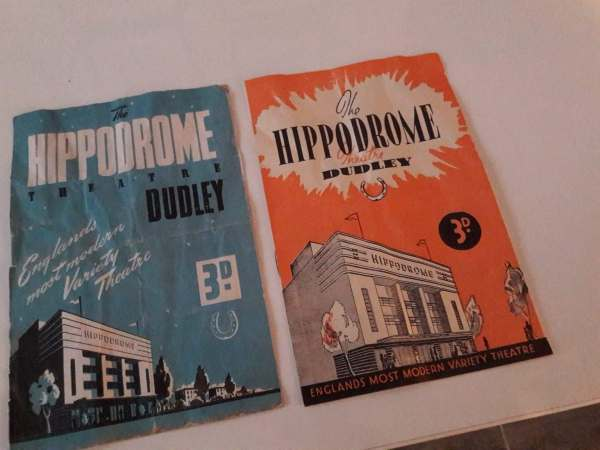 A couple of programmes from the early days of the Hippodrome - priced at a princely 3d (about 1 and a half pence in today's money).