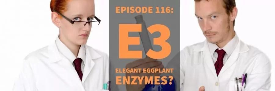 Episode 116: E3 – Elegant Eggplant Enzymes?