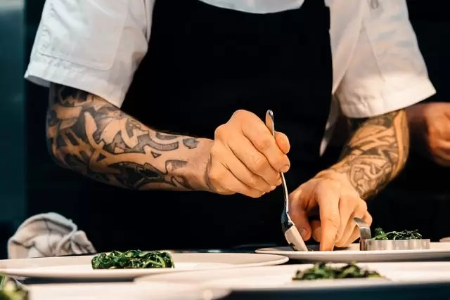 food safety chef preparing food
