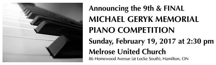 Michael Geryk Piano Comp