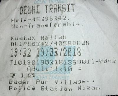 Delhi Bus Ticket