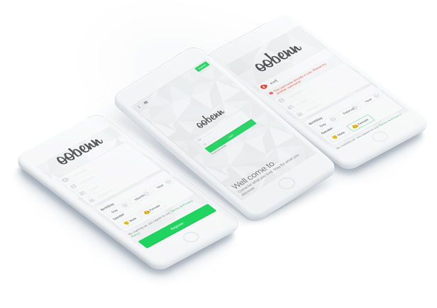 iTick Login and Register Page for oobenn - 2