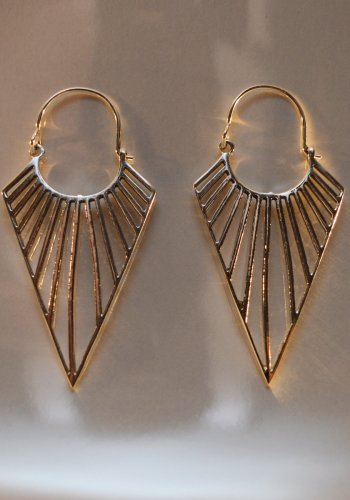 Silver deco earrings