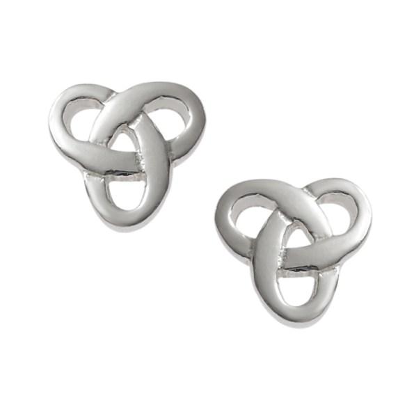 Silver celtic knot studs