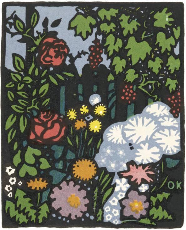 """Flower Garden"""". Oskar Kokoschka. 1907."""