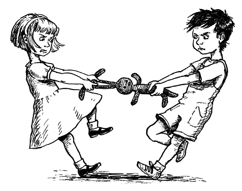 Gelovige kinderen delen minder