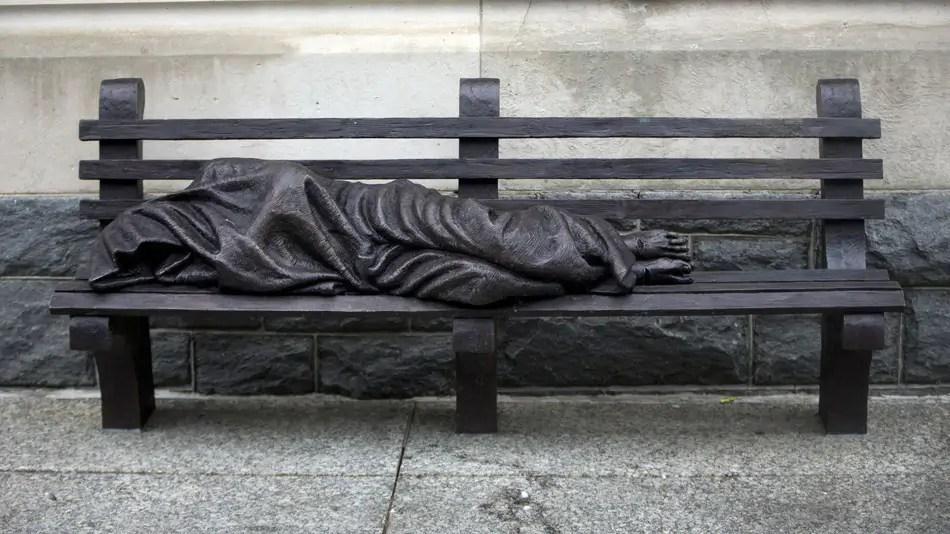Dakloze Jezus niet welkom in Londen