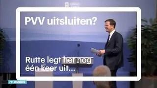 Kiezer krijgt middelvinger van Rutte en Wilders