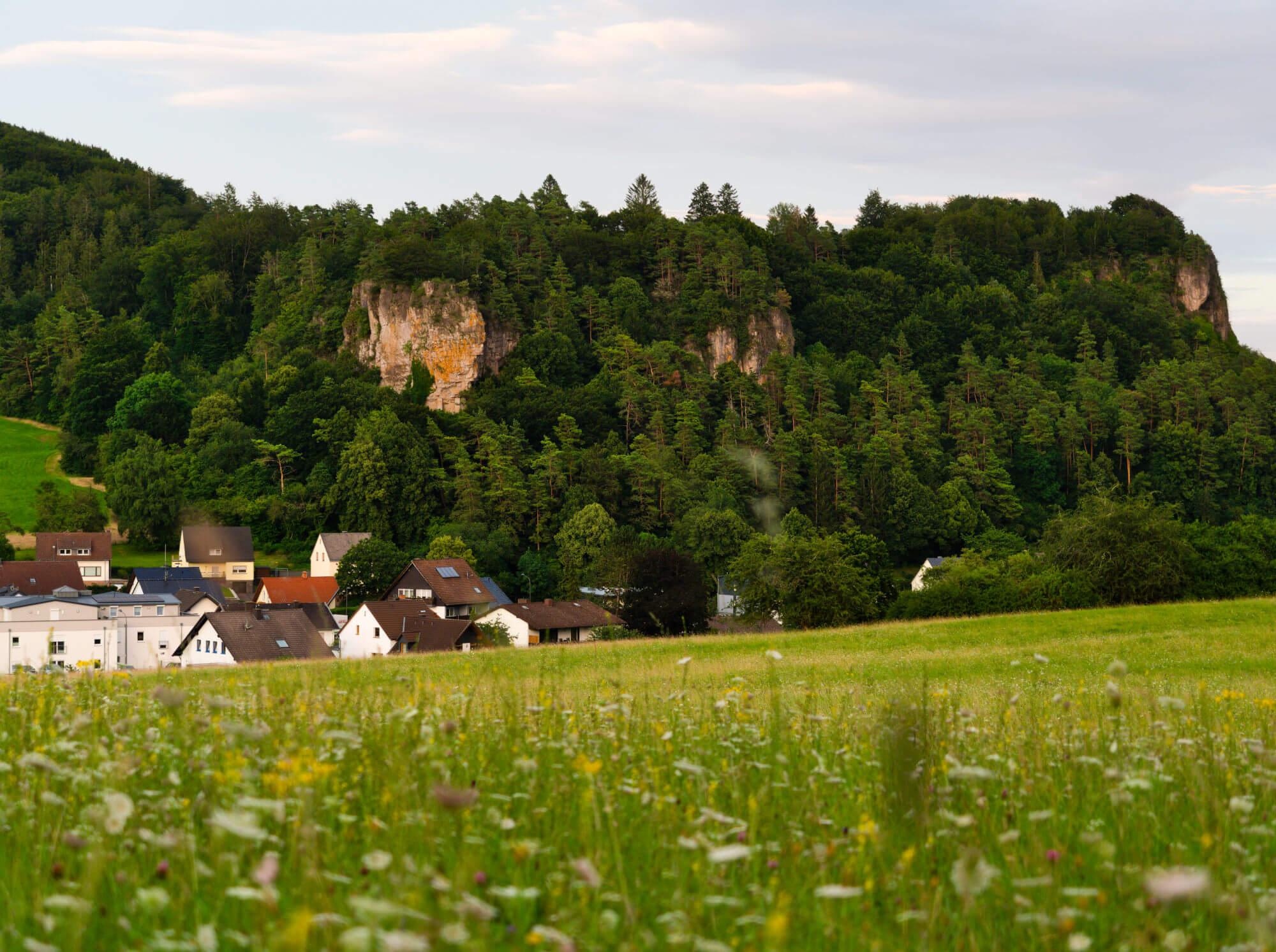 Uitzicht camping Felsenhof Gerolstein Duitsland