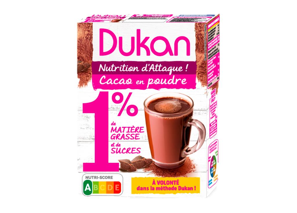 cacao en poudre 1 de mg et 1 de sucres